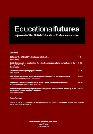 EducationalFutures Journal Vol 7 Issue 3 Cover