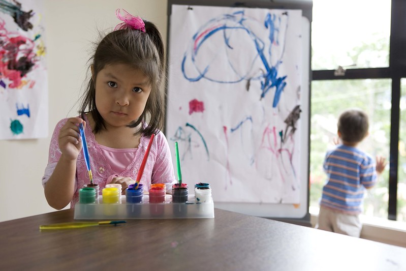 Picture of Child Painting