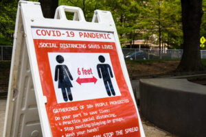 Picture of a Sign for COVID-19 in Washington DC