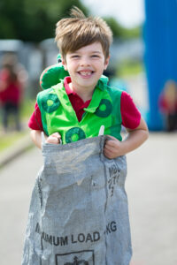 Picture of a Child in a Sack Race